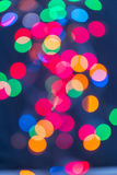 Multicolour lights on Blue Background Royalty Free Stock Image