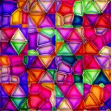 Multicolour målat glass Arkivfoto
