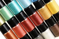 Multicolour make-up pigment Royalty Free Stock Photography