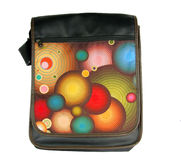 Multicolour Messenger bag Stock Image