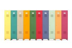 Multicolour Metal Lockers Stock Photo