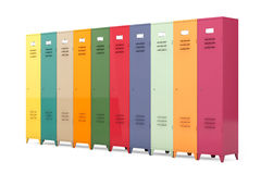 Multicolour Metal Lockers Stock Images