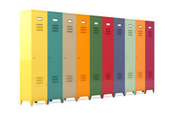 Multicolour Metal Lockers Stock Photography