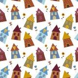 multicolour modell för hus royaltyfri illustrationer