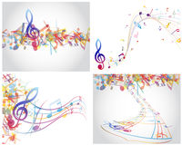 Multicolour  musical Royalty Free Stock Images