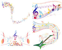 Multicolour  musical Stock Photos