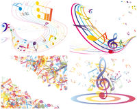 Multicolour  musical Stock Images