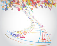 Multicolour  musical notes Stock Photos