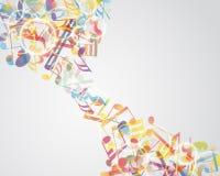 Multicolour  musical notes Stock Photos