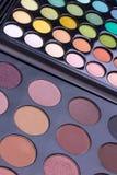 multicolour neutrala paletter för ögonskuggor Royaltyfria Foton