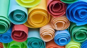 Multicolour papers. Stock Image