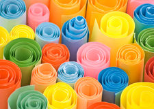 Multicolour papers. Royalty Free Stock Image