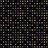 Multicolour prickar på svart bakgrund vektor illustrationer