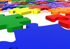 Multicolour puzzle close up Royalty Free Stock Photos