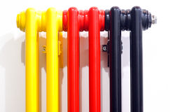 Multicolour radiator Stock Images