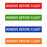 Multicolour Remove Before Flight Tags Stock Photography