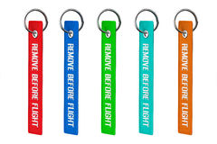 Multicolour Remove Before Flight Tags Royalty Free Stock Photography
