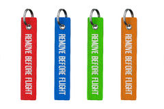 Multicolour Remove Before Flight Tags Stock Photos