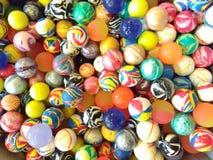 Multicolour Rubber Balls. Shop display of multicolour rubber balls Stock Images