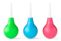 Multicolour Rubber Enema. 3d Rendering Stock Photos