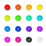Multicolour Sewing Buttons. 3d Rendering Stock Photo