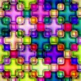 Multicolour stained glass. Seamless texture Stock Image