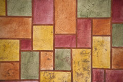 Multicolour stucco wall background Stock Images