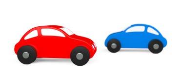 Multicolour tecknad film Toy Cars royaltyfri illustrationer