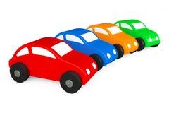 Multicolour tecknad film Toy Cars vektor illustrationer