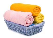 Multicolour towels Stock Image