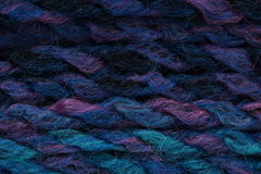 Multicolour yarn. Multicolour knit blue pink purple stock images