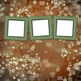 Multicoloured backdrop for greetings with frames Stock Photos