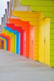 Multicoloured Beach Huts Stock Photography