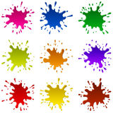 Multicoloured Blots Stock Photos