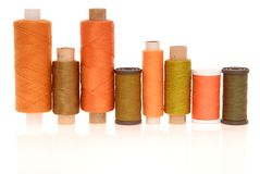 Multicoloured bobbins Stock Images