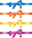 Multicoloured bows and ribbons set. Set of multicoloured bows and ribbons vector illustration