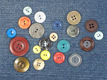 Multicoloured buttons. Stock Photography