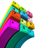 Multicoloured buttons Stock Photography