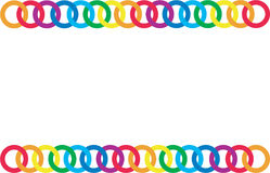 Multicoloured chain Royalty Free Stock Photos