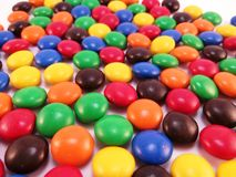 Multicoloured Chocolate Candies Stock Photo