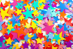 Multicoloured confetti stars Royalty Free Stock Image