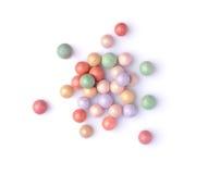 Multicoloured corrector face powder balls Stock Image