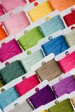 Multicoloured cotton threads Royalty Free Stock Image