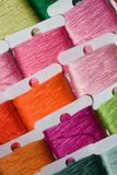 Multicoloured cotton threads Stock Photo