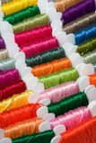 Multicoloured cotton threads Stock Images