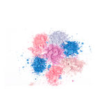 Multicoloured crumbled eyeshadows Royalty Free Stock Photo