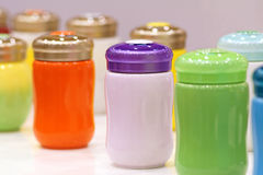Multicoloured cups Stock Photography