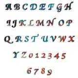 Multicoloured 3D brieven/alfabet/aantallen Royalty-vrije Stock Foto's