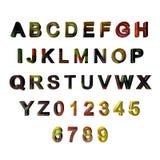 Multicoloured 3D brieven/alfabet/aantallen Royalty-vrije Stock Fotografie