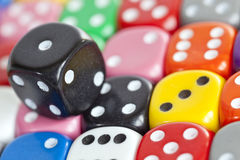 Multicoloured Dice Royalty Free Stock Images
